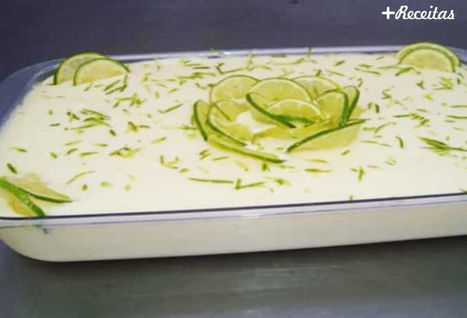 Mousse de limão com chocolate branco