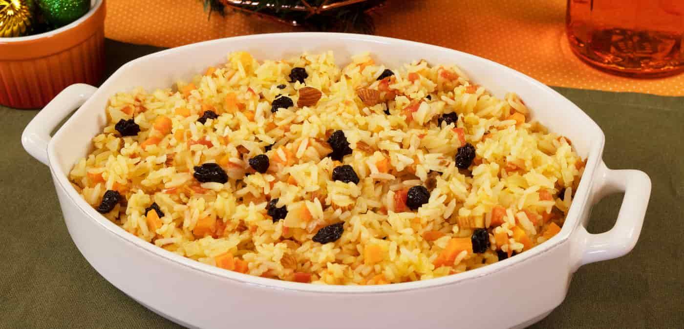 receita de arroz de natal