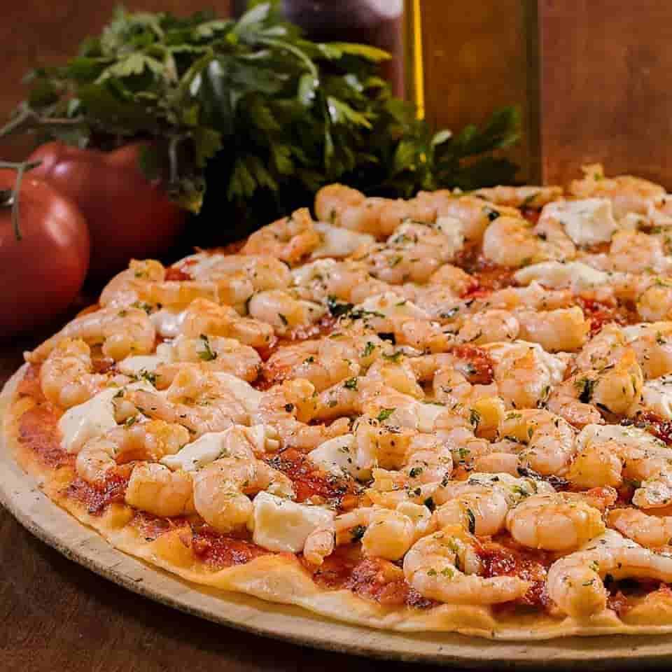 pizza de camarao