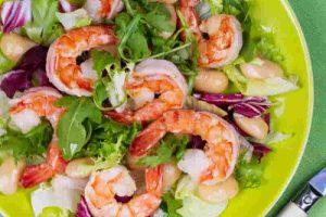 salada de camarão shrimp