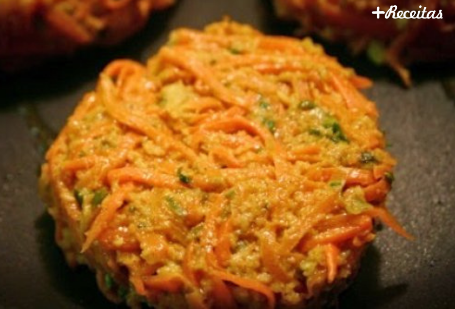 Hamburger de cenoura