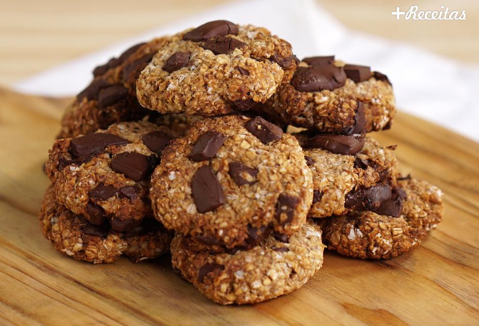Cookie Integral de Aveia com Gotas de Chocolate Amargo