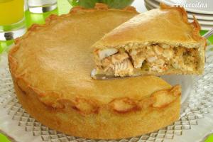Pastelão de frango de forno