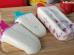 Picolé de leite ninho com morangos fácil de fazer.