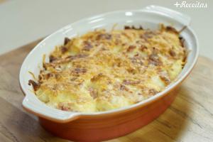 Batata recheada de forno rápida e fácil